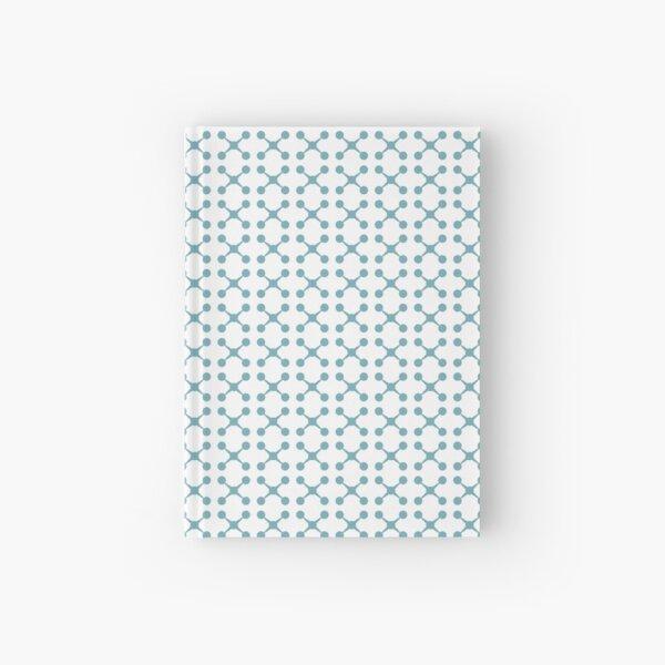 Retro Aqua Blue Jacks  Hardcover Journal