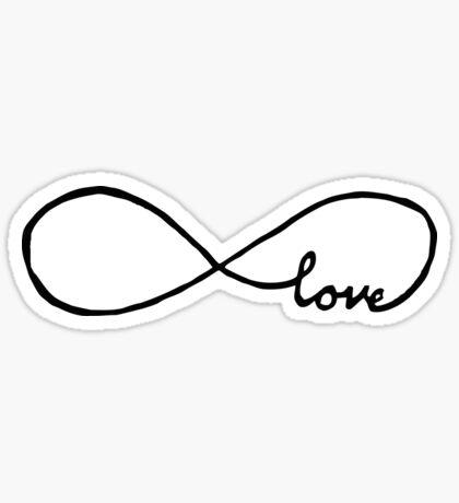 Pretty Infinity sign love Sticker