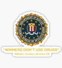 Winners Don't Use Drugs Sticker
