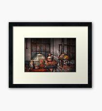 Steampunk - Private distillery  Framed Print