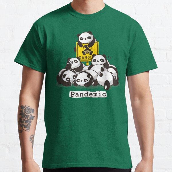 Pandemic Pun - Fluffy Cute Panda - Social Distancing Classic T-Shirt