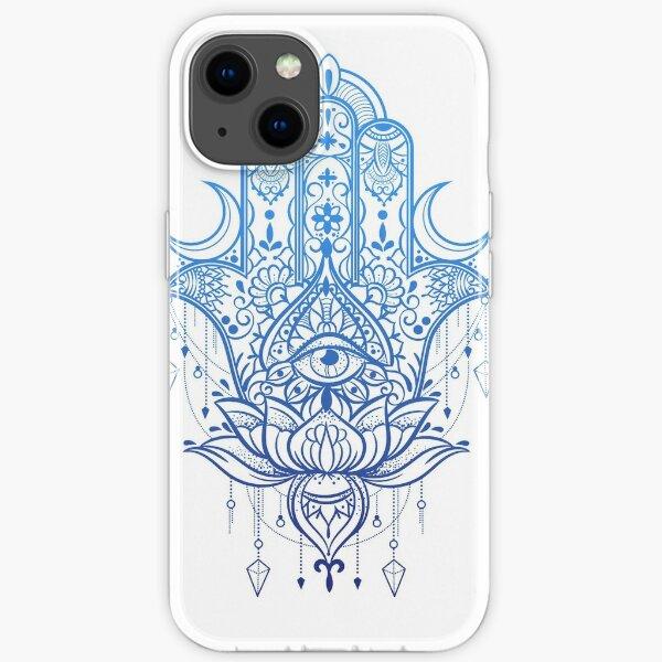 Hamsa Lotus Hand Design iPhone Soft Case