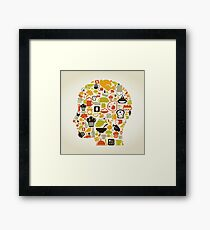 Head food3 Framed Print