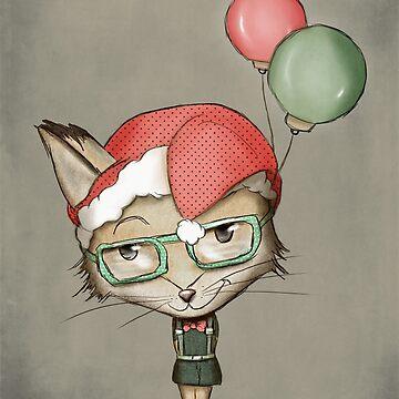 Christmas Fox von schwebewesen