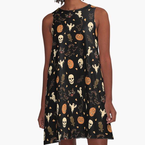 Hallowed Pattern A-Line Dress
