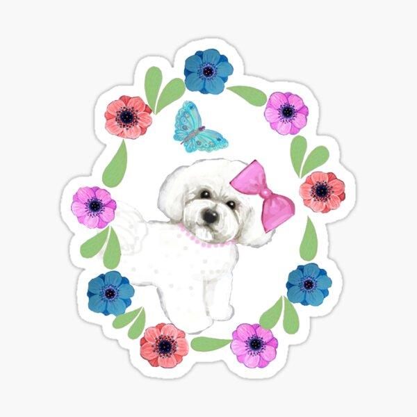 Bichons and Butterflies Sticker
