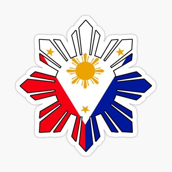 Philippine Sun Flag Sticker