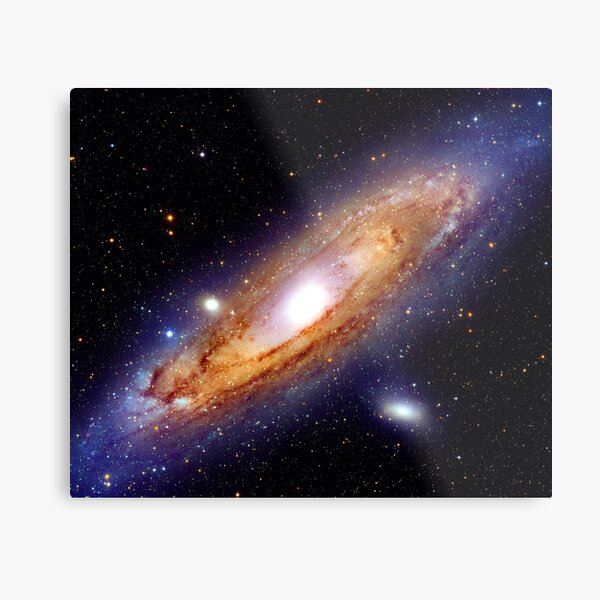 The Andromeda Galaxy (M31, NGC 224) in High Resolution. Nasa Hubble Space Telescope Astronomy Photo Metal Print