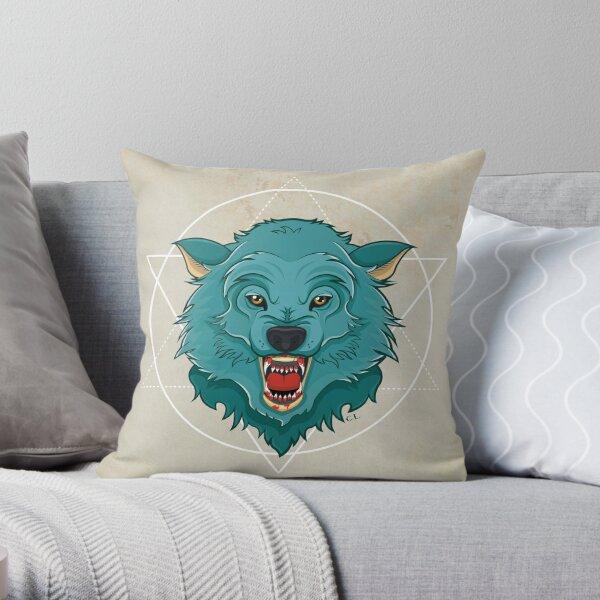 Killer Wolf Throw Pillow