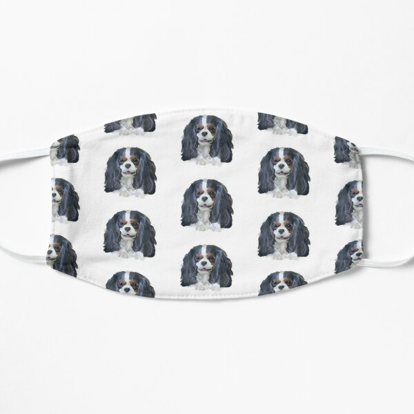 Tricolour Cavalier King Charles  - Smiling Mask