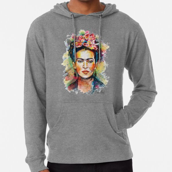 Frida Khalo Mexico Revolution Portrait Lightweight Hoodie