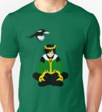 A boy and his magpie (cowl off) Unisex T-Shirt