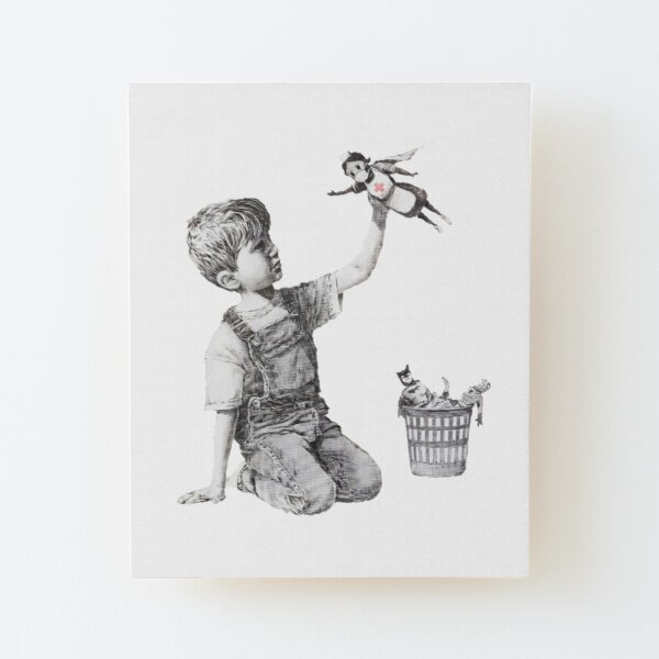 Game Changer - Banksy Wood Mounted Print