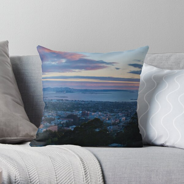 View of San Francisco from UC Berkeley and Grizzly Peak Throw Pillow