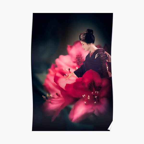 Imaginary journey portrait - Maiko Rhododendron Poster