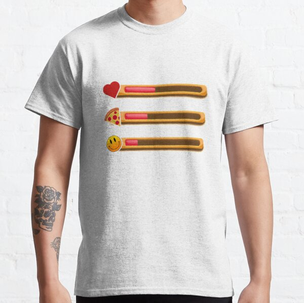 Gift for a Geek (boyfriend/girlfriend/husband/wife/YOU!) | Gamers - game health bar |  Current mood: hungry, sad, hp low Classic T-Shirt