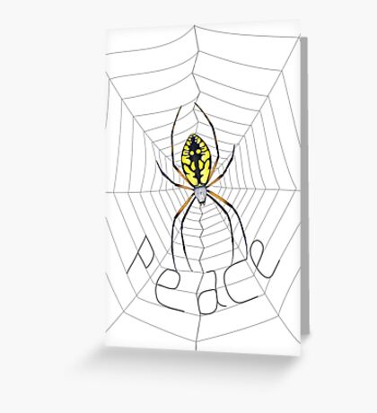 Peace Spider Greeting Card