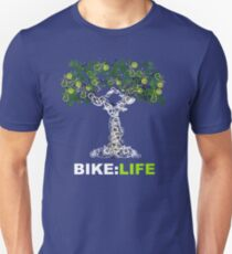 BIKE:LIFE in white Slim Fit T-Shirt