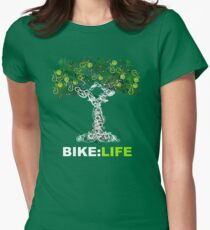 BIKE:LIFE in white Womens Fitted T-Shirt