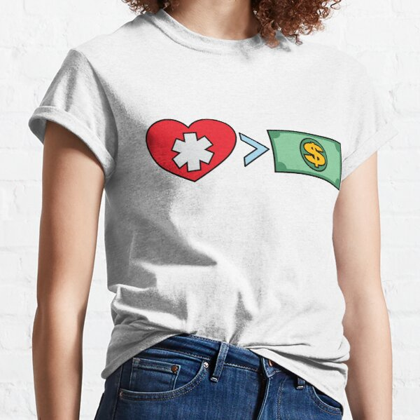 Health > Wealth - Simple Classic T-Shirt