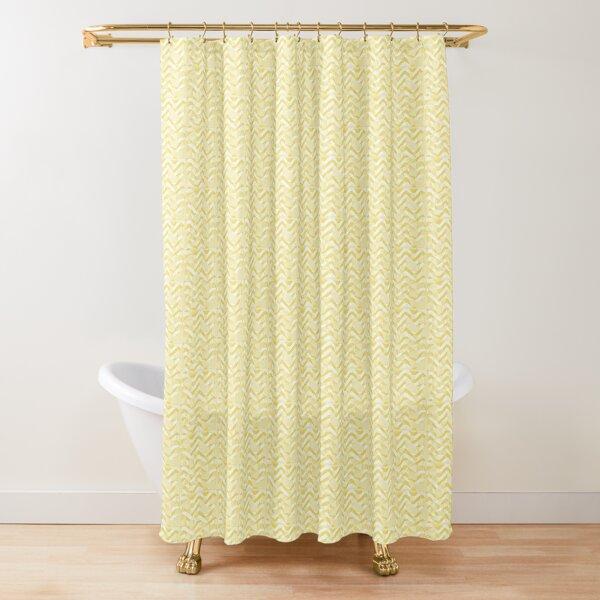 Yellow zigzag Shower Curtain
