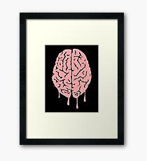 Brain melt - vector illustration of melting brain! Framed Print