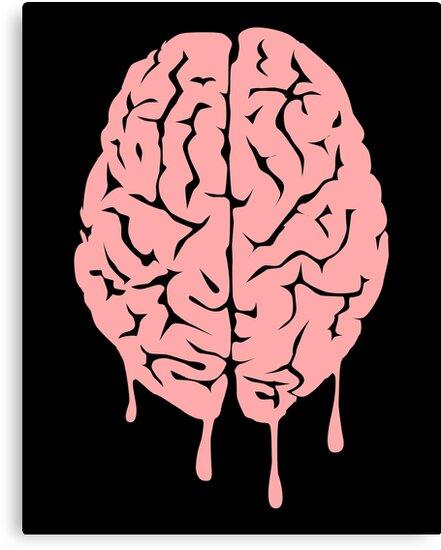 Brain melt - vector illustration of melting brain! by DiabolickalPLAN