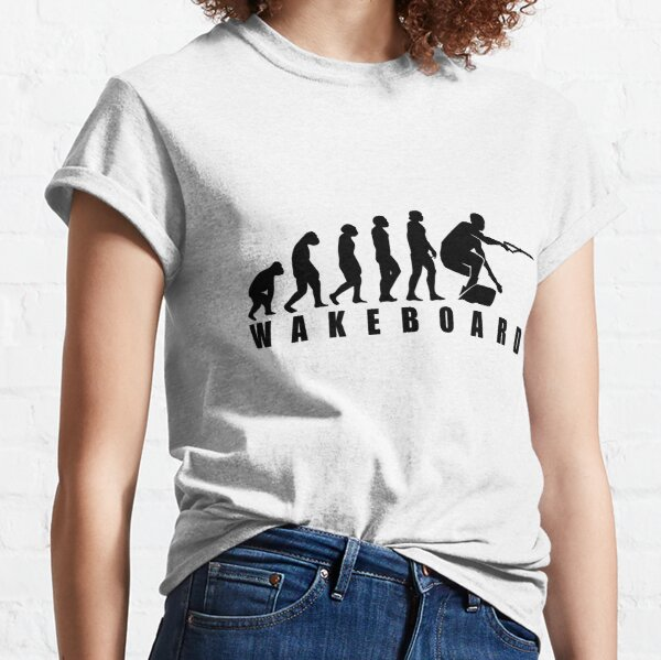 Funny Wakeboard Evolution Design Gift Classic T-Shirt