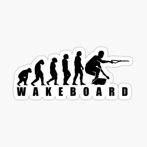 Funny Wakeboard Evolution Design Gift Sticker