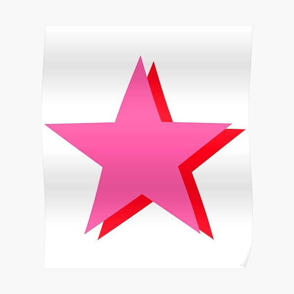 Pink and Red Stars Poster