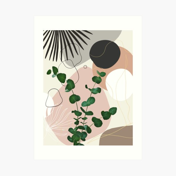 Eucalyptus Fan Palm Finesse #1 #tropical #decor #art Art Print