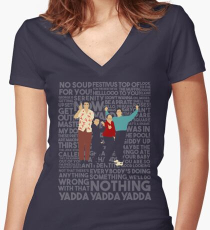 A Shirt About Nothing Women's Fitted V-Neck T-Shirt