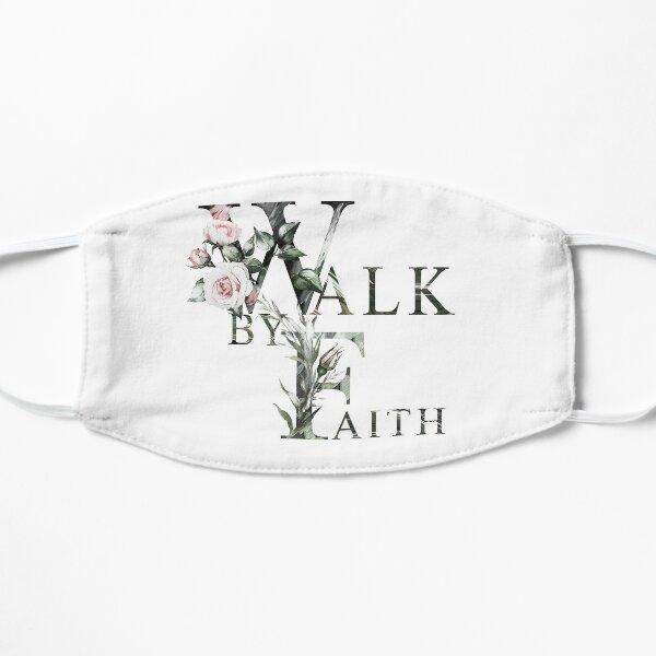 Caminar por fe Mascarilla plana