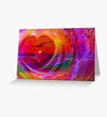 Love gives you wings Greeting Card