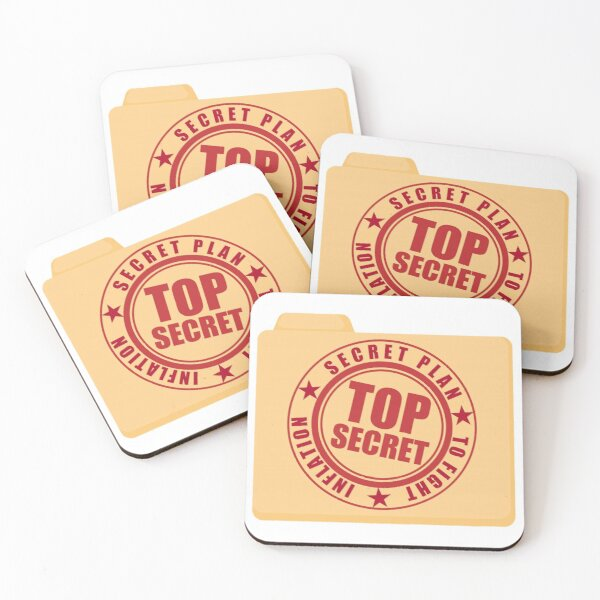secret plan to fight inflation Coasters (Set of 4)