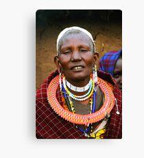 Older Maasai Woman Canvas Print