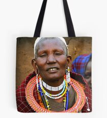 Older Maasai Woman Tote Bag