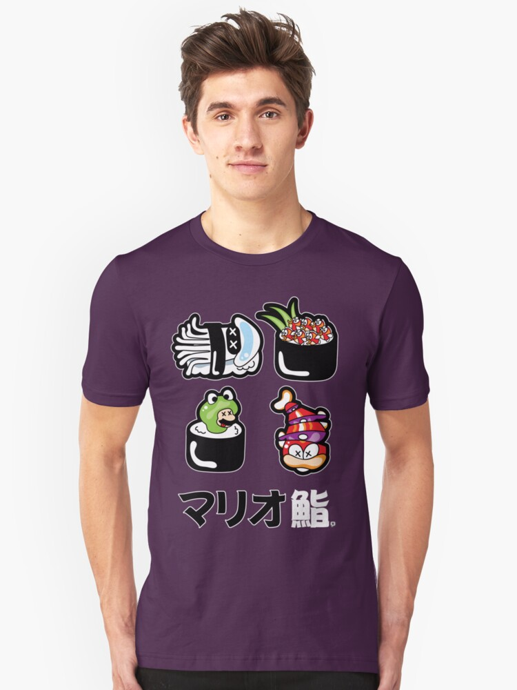 Mario Sushi by thickblackoutline
