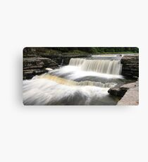 Aysgarth - Stepped Falls 1 of 3 Canvas Print