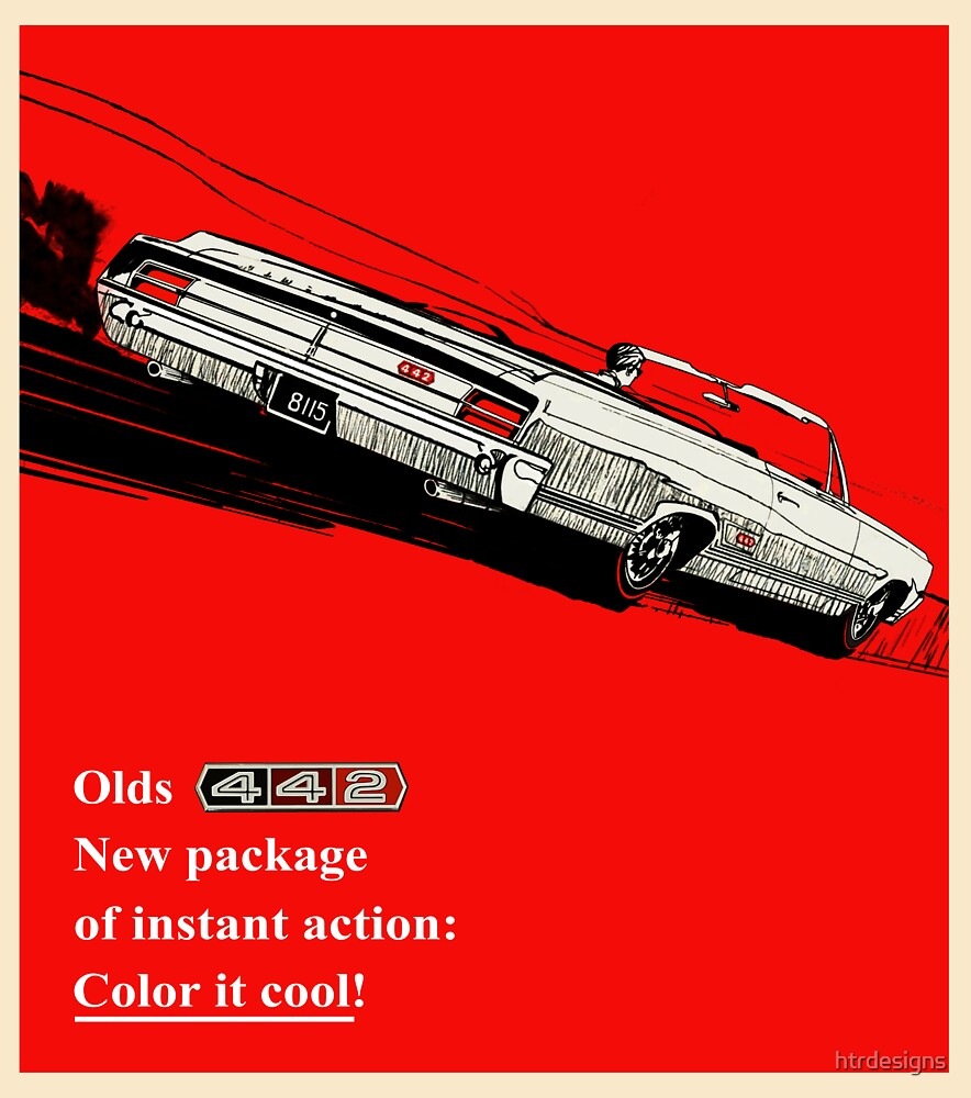 Oldsmobile 442 vintage advertisement by htrdesigns
