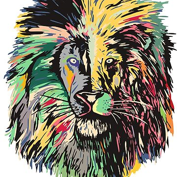 Lion in many colors by weirdbird