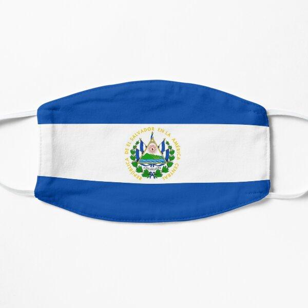 Regalos, pegatinas y productos de la bandera de El Salvador Mascarilla plana