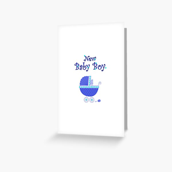 New Baby Boy card Greeting Card