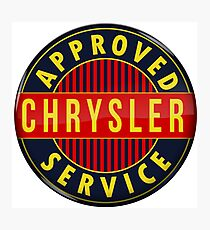 Chrysler Approved Service vintage sign Crystal version Photographic Print