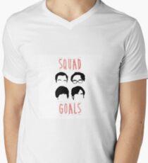 Kader Ziele T-Shirt mit V-Ausschnitt für Männer
