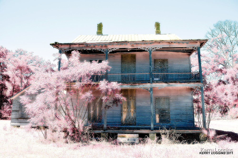 Abandoned Infrared Hotel by Kerry Loggins