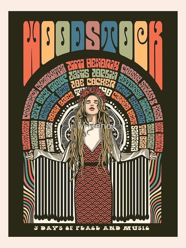 Woodstock Festival Poster Illustration by MickReno