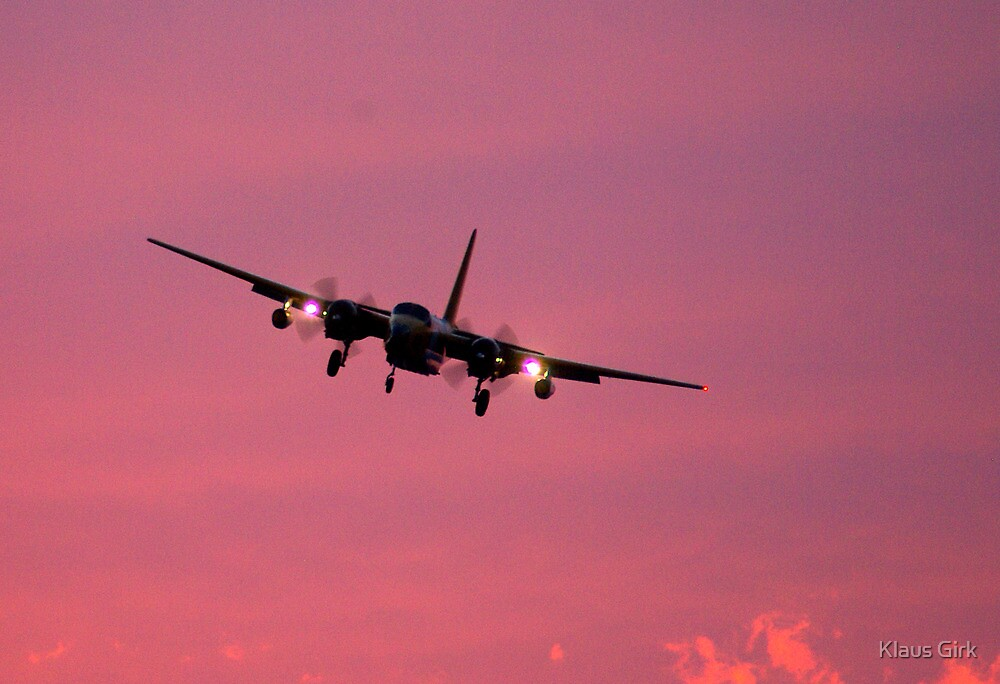 Neptune Slurry Bomber at sunset by Klaus Girk