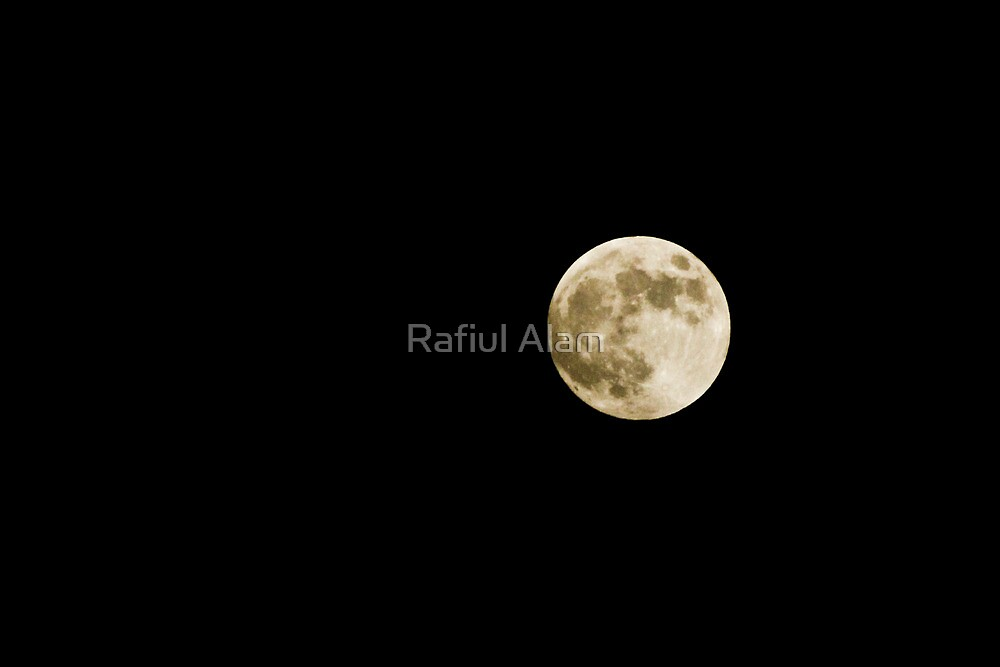 The Moon by Rafiul Alam