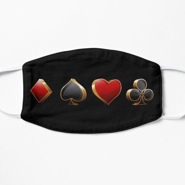 Gambling Card pips, Diamond, spade, heart and club Vegas Mask